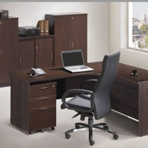 office executive writing table with mobile pedestal office furniture table desk selangor puchong