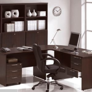 office executive writing table with pedestal office furniture table desk selangor puchong