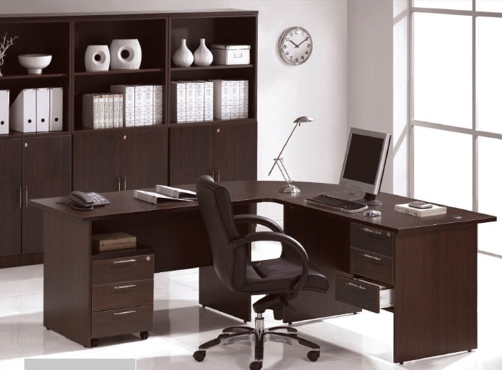 Office Executive Writing Table With Pedestal Furniture Desk Selangor Puchong