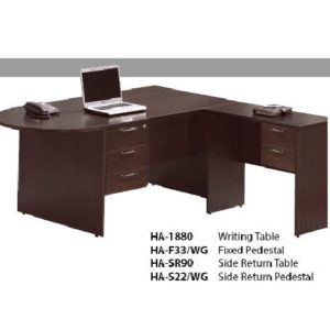 office writing table with side table office furniture table desk selangor kuala lumpur