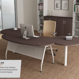 office writing table with fixed pedestal office furniture office executive table desk selangor shah alam