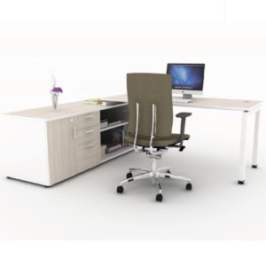 office executive writing table with cabinet office furniture table desk selangor klang velley