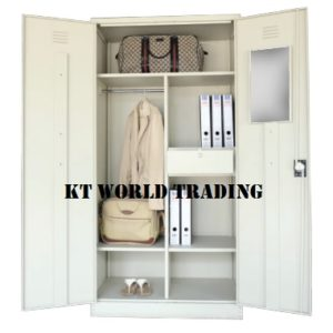 F.H WARDROBE WITH STEEL SWINGING DOOR CW 3 SHELVES, 1 DRAWER, 1 H.BAR & 1 MIRROR  steel furniture office furniture malaysia selangor shah alam kuala lumpur petaling jaya