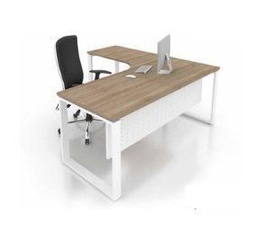 KTSL-office l Shape writing table with metal leg office furniture office table desk selangor kuala lumpur