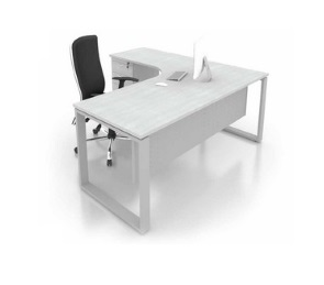 office L shape wring table with 4 drawer pedestal office furniture office table desk selangor kalng velley