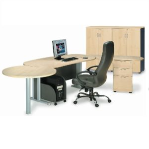 office exclusive writing table with pedestal office furniture office table desk selangor shah alam