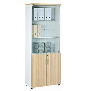 office cabinet with glass door and wooden door office furniture cabinet bookcase selangor shah alam
