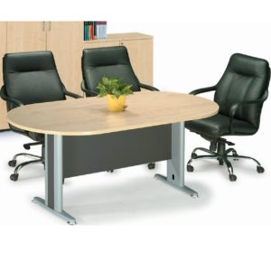 office oval meeting table with metal leg office furniture selangor damansara