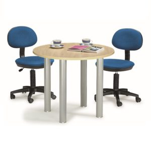 office round meeting table with metal leg office furniture selangor shah alam