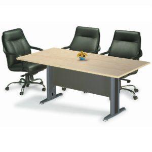 office retangular meeting table with metal leg office furniture selangor kuala lumpur