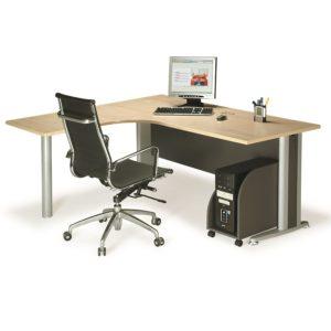 L shape writing table with metal leg office table desk selangor kuala lumpur