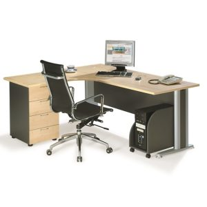 office writing table with fixed 4 drawer pedestal office furniture selangor shah alam