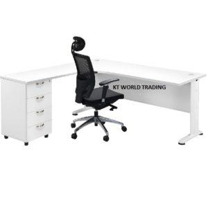 L shape writing table office table desk office furniture selangor kuala lumpur