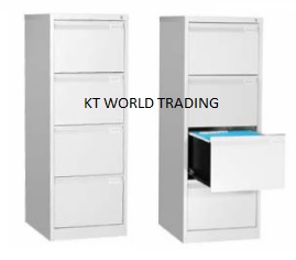 Steel Filing Cabinet with 4 Drawer  office steel furniture cabinet malaysia selangor kuala lumpur kalng velley shah alam - Goose Neck