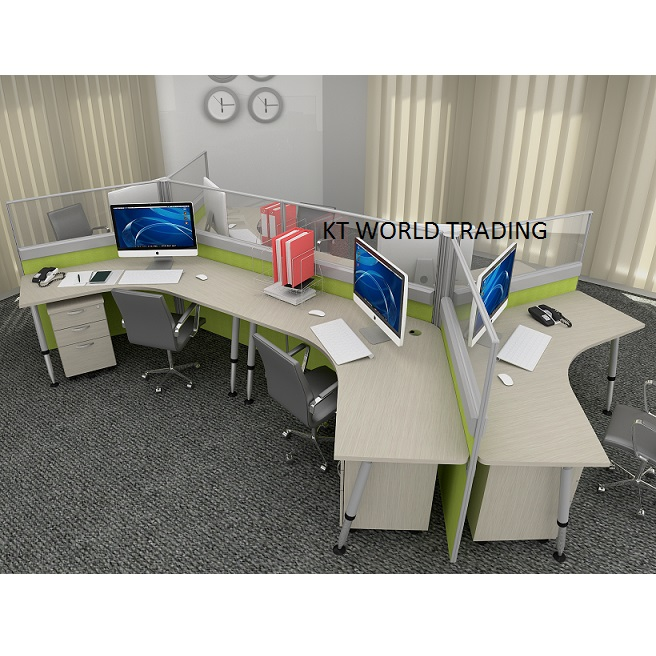 30mm Block System   Set 1 120 WORKSTATION Office Partition Workstation  Office Furniture Malaysia Selangor