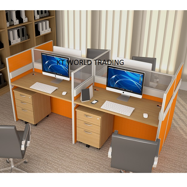 30mm Block System   Set 2 CLUSTER OF 4 Office Partition Workstation Office  Furniture Malaysia Selangor