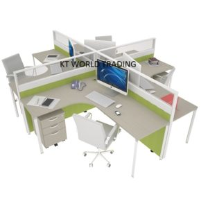 60MM BLOCK SYSTEM - CLUSTER OF 4 office partition workstation office furniture malaysia selangor petaling jaya kuala lumpur
