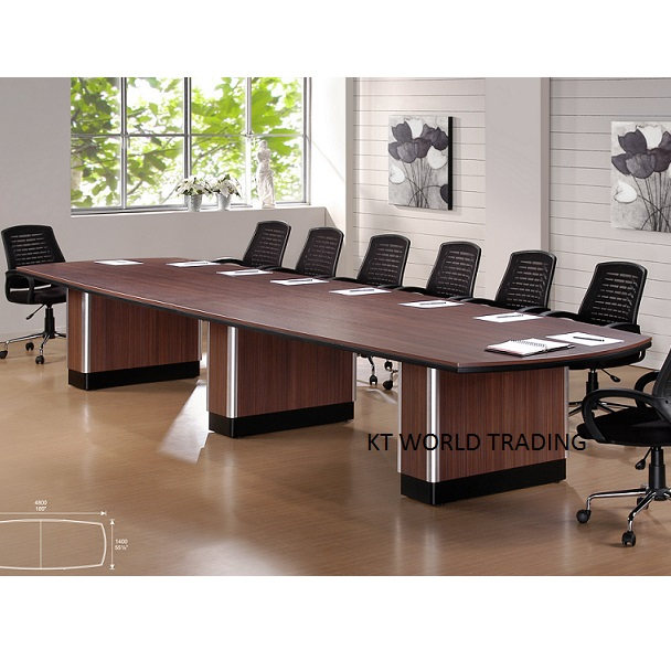 Modern Design Conference Table - D shaped conference table