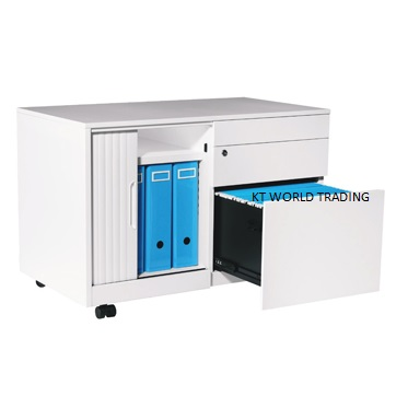 CADDY WITH ABS TAMBOUR DOOR - RIGHT- office steel furniture malaysia selangor shah alam kuala lumpur klang velley