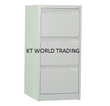 Steel Filing Cabinet with 3 Drawer – Goose Neck - OFFICE STEEL FURNITURE MALAYSIA SELANGOR KUALA LUMPUR KLANG VELLEY SHAH ALAM