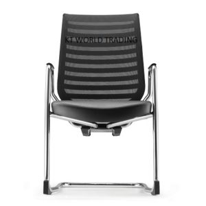 ZN8213L_85CA_01 VISITOR CONFERENCE CHAIR WITH ARM LEATHER  office executive mesh chair