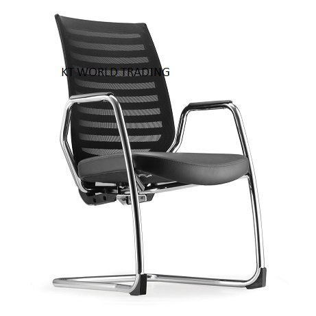 ZN8213L_85CA_03 VISITOR CONFERENCE CHAIR WITH ARM LEATHER office executive mesh chair