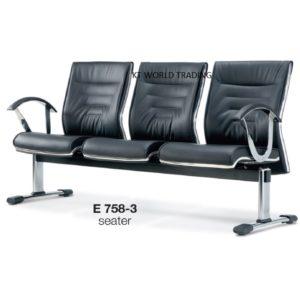 KT758-3 SEATER LINK CHAIR office furniture malaysia selangor kuala lumpur klang valley petaling jaya