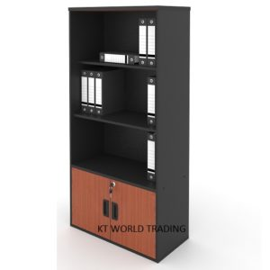 kt-a741C high cabinet open shelf with bottom dor office furniture malaysia selangor klang valley kuala lumpur