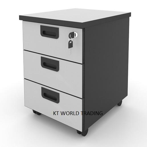 kta3 mobile pedestal 3 drawer office furniture malaysia selangor klang valley shah alam puchong