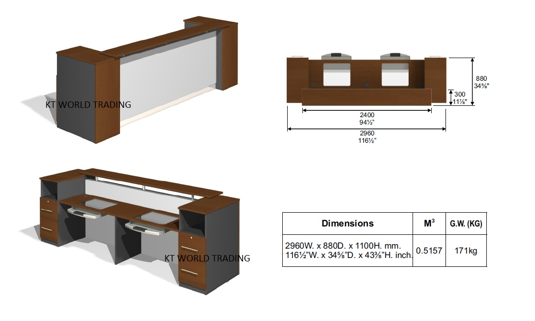 Elegant Modern Design Reception Counter Reception Desks