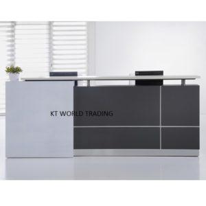 S66 (1) RECEPTION COUNTER modern design reception desk office furniture malaysia selangor kuala lumpur klang valley petaling jaya