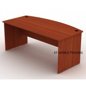 d-shape-writing-table-full-cherry-office table office furniture malaysia selangor