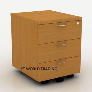 mobile-pedestal-3-drawer-full-beech office furniture malaysia selangor klang valley kuala lumpur shah alam