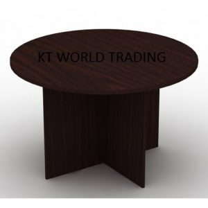 round-meeting-table-color-WALNUT office furniture malaysia selangor klang valley shah alam kuala lumpur