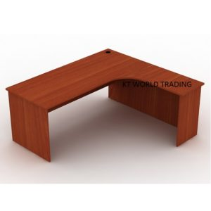 l-shape-writing-table-with-full-cherry-color office furniture malaysia selangor klang valley shah alam kuala lumpur