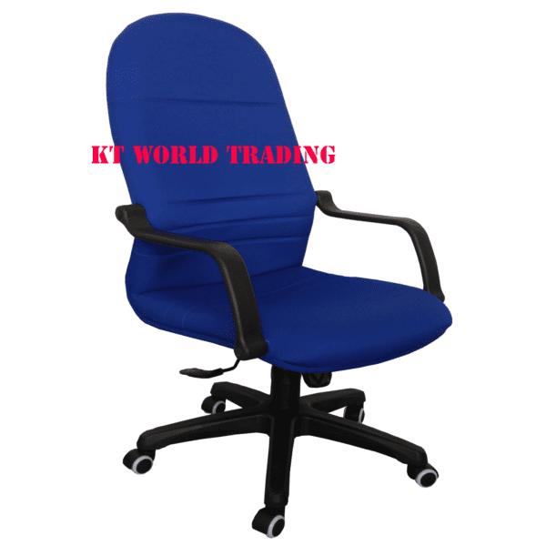 FABRIC HIGHBACK CHAIR - BLUE office chair office furniture malaysia selangor klang valley shah alam kuala lumpur