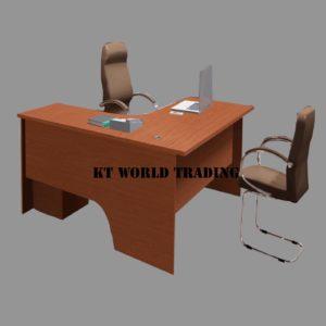 L SHAPE WRITING TABLE - BEECH office furniture malaysia selangor klang valley shah alam kuala lumpur