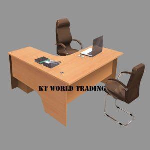 L SHAPE WRITING TABLE - MAPLE office furniture malaysia selangor klang valley shah alam kuala lumpur