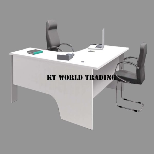 L SHAPE WRITING TABLE - WHITE office furniture malaysia selangor klang valley shah alam kuala lumpur