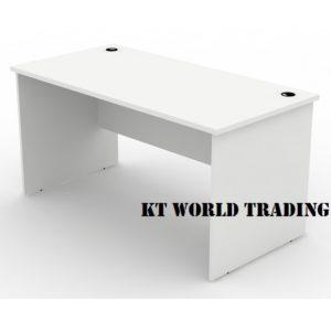 WRITING TABLE 1500750 full white  office furniture malaysia selangor klang valley shah alam kuala lumpur