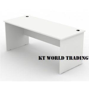 WRITING TABLE 1800750 full white office furniture malaysia selangor klang valley shah alam kuala lumpur