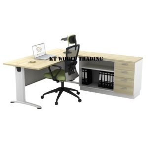 BT 188 WRITING TABLE WITH SIDE CABINET OFFICE FURNITURE MALAYSIA SELANGOR SHAH ALAM KUALA LUMPUR KLANG VALLEY