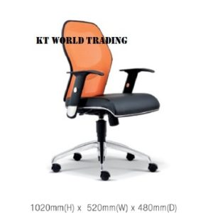 KT2092H EXECUTIVE OFFICE LOWBACK MESH CHAIR office netting chair office furniture malaysia selangor kuala lumpur petaling jaya klang valley