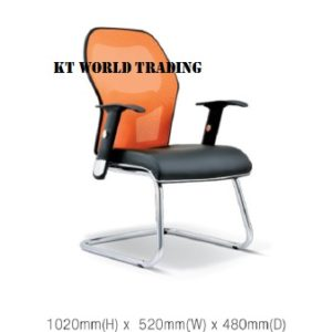 KT2093S EXECUTIVE OFFICE CONFERENCE VISITOR MESH CHAIR office netting chair office furniture malaysia selangor kuala lumpur petaling jaya klang valley