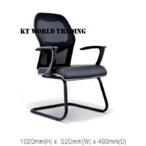 KT2097S EXECUTIVE OFFICE CONFERENCE VISITOR MESH CHAIR office netting chair office furniture malaysia selangor kuala lumpur petaling jaya klang valley