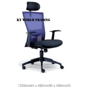 KT2115H EXECUTIVE OFFICE HIGHBACK MESH CHAIR office netting chair office furniture malaysia selangor kuala lumpur ampang cheras