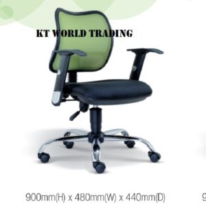 KT2131H OFFICE LOWBACK MESH CHAIR office netting chair office furniture malaysia selangor kuala lumpur shah alam sugai buloh kepong
