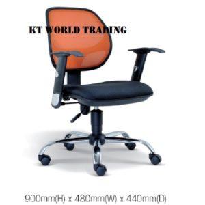 KT2133H OFFICE LOWBACK MESH CHAIR office netting chair office furniture malaysia selangor kuala lumpur shah alam sugai buloh kepong
