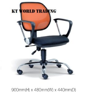KT2134H OFFICE LOWBACK MESH CHAIR office netting chair office furniture malaysia selangor kuala lumpur shah alam sugai buloh kepong