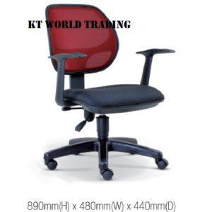 KT2135H OFFICE LOWBACK MESH CHAIR office netting chair office furniture malaysia selangor kuala lumpur shah alam sugai buloh kepong